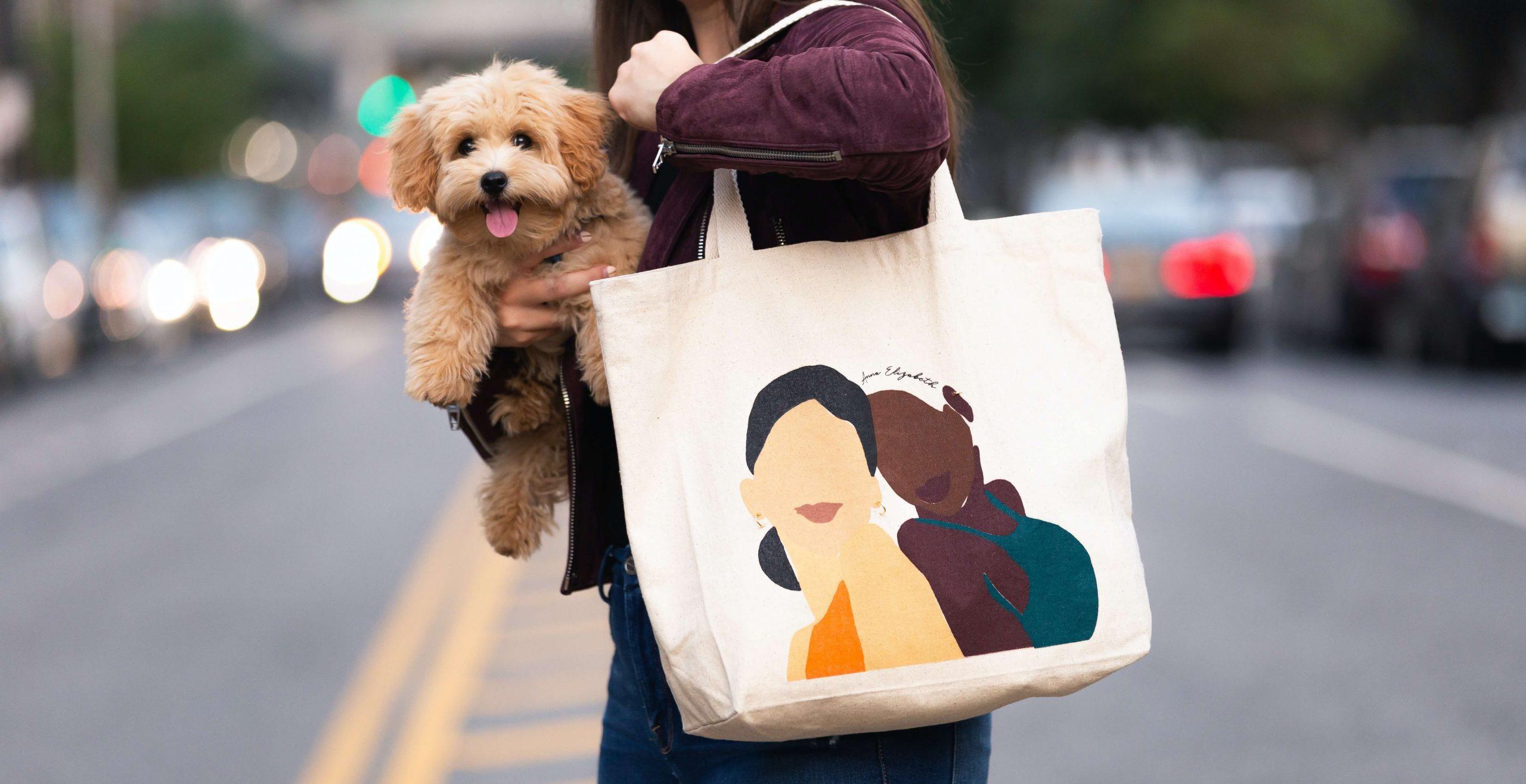Materiałowa torba na zakupy