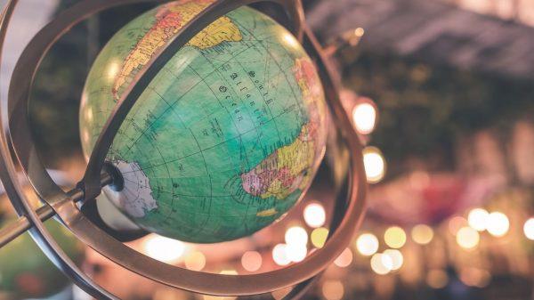 Podświetlony globus